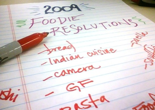 Foodie Resolutions